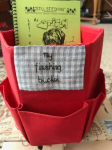 pic of bucket for Let's finish the stitching class