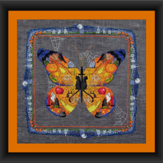 BOO Butterfly Halloween cross stitch pattern