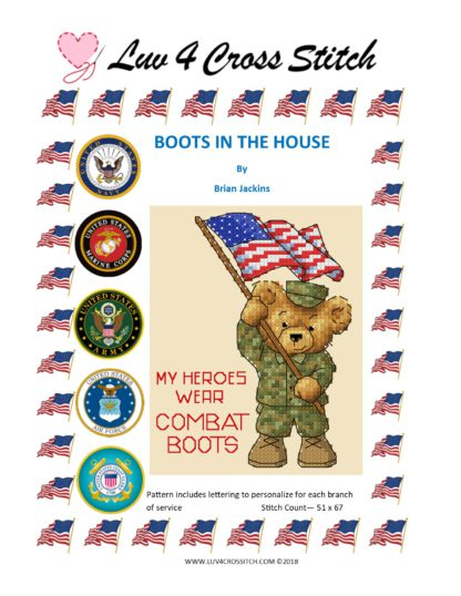 military cross stitch pattern