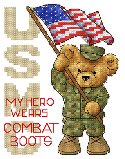 Marines cross stitch pattern