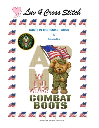 military cross stitch - Army