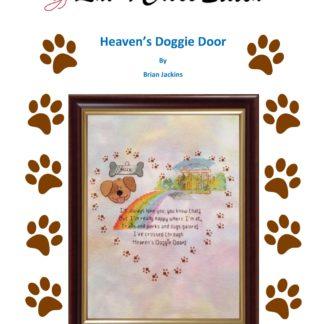 Heaven's Doggie Door - rainbow bridge cross stitch