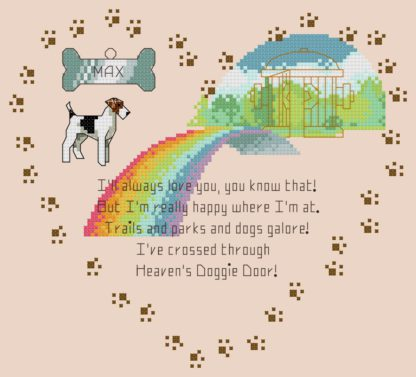 rainbow bridge cross stitch