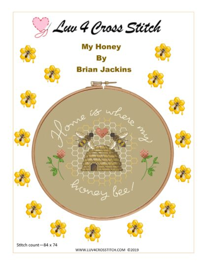 Honey Bee cross stitch