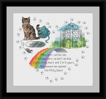 rainbow bridge cross stitch for cats