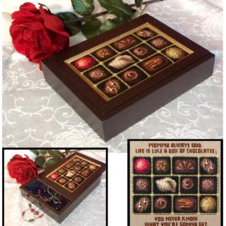 Box of Chocolates cross stitch