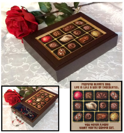 Box of Chocolates cross stitch