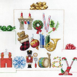 Holly Jolly Holiday cross stitch pattern picture