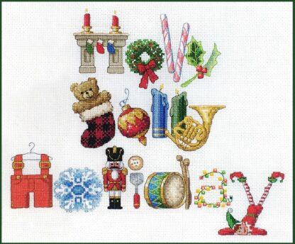 Holly Jolly Holiday cross stitch